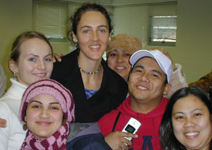 Gillian Durham and Students